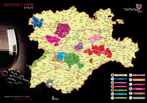 Kaart Castilla y León