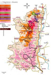 Kaart Beaujolais